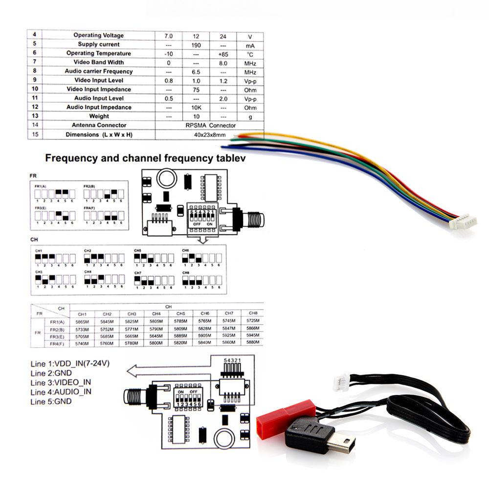 TS5823 d ts5823 5 8g 200mw 32ch av transmitter module fpv ts5823 wiring diagram at aneh.co
